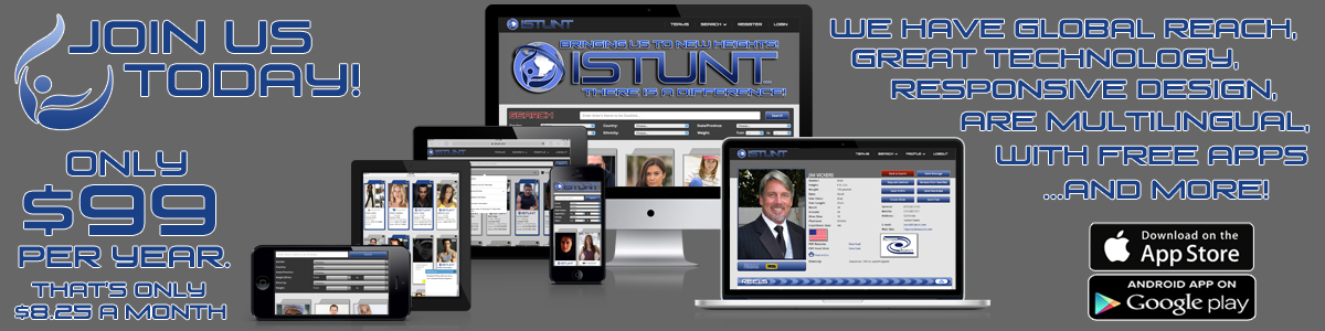 iStunt.com - Join us! Out website is the most technologically advanced directory in the world... yet still, easier than facebook.